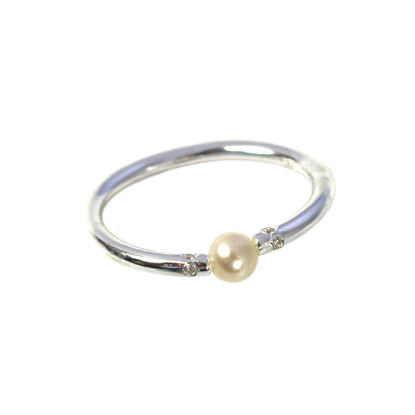 Wholesale 925 Sterling Silver Tiny Freshwater Pearl and CZ Stones Ring (1 piece)