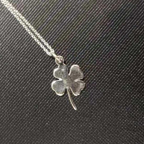 Wholesale Sterling Silver Big Shamrock Charm Necklace
