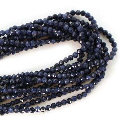 Wholesale Semi-Precious Gemstone Beads - 2mm Faceted Rondelle - Blue Sapphire - September Birthstone (1 Strand)
