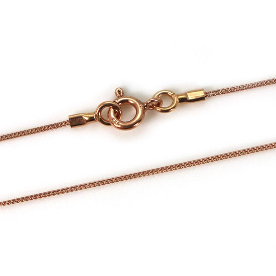 Wholesale Rose Gold Plated Sterling Silver Finished Chain - Tiny Curb Chain - Handmade with Tube Ends