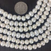 Wholesale Creamy White Freshwater Pearls, Commercial Grade 5.5-7mm - June Birthstone (Sold Per Strand)