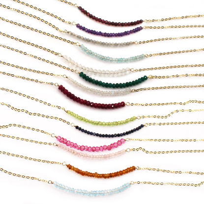 Wholesale Gold Over Sterling Silver Birthstone Row Choker - 15""