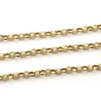 Wholesale Gold Over Sterling Silver Bulk Chain - 3.2mm Diamond Cut Rolo Chain (sold per foot)