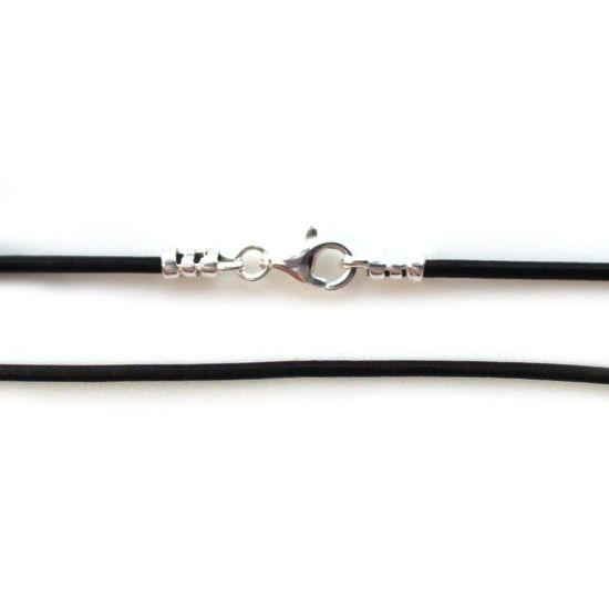 Wholesale Black Leather Cord Necklace - 1.5mm