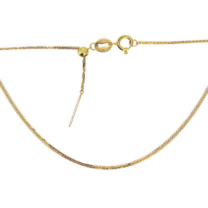 Wholesale 18K Solid Yellow Gold Necklace - Adjustable Chain - 18 inches