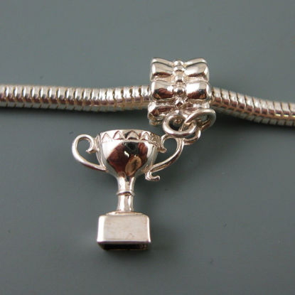 Wholesale European .925 Sterling Silver Trophy Charm Bracelet Bead