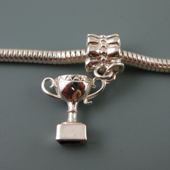 Wholesale European .925 Sterling Silver Trophy Charm Bracelet Bead