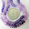 Wholesale February Birthstone-Gemstone Beads -- Shaded Amethyst Plain Button Beads ( 4-5 mm) 14 inches