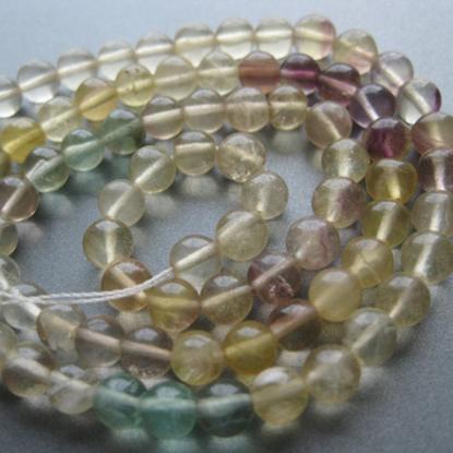 Wholesale Semi-Precious Gemstone Beads - Fluorite 4.5mm Smooth Round Beads-15 inches