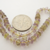 Wholesale Ametrine -Semi Precious Stone ,Hand Faceted Rondell Beads - full strand -(4 mm) 14.5 inches