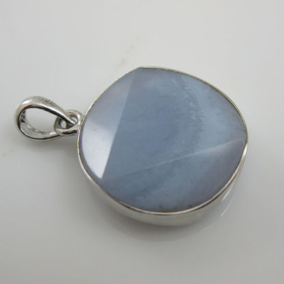 Wholesale Sterling Silver-Gemstone Pendant Blue Lace Agate- David Star- Grade A Sku:310003-BLA