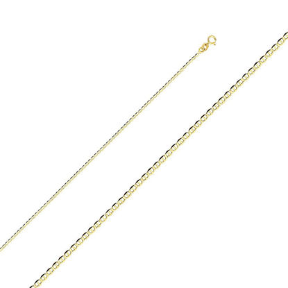 Wholesale 14K Yellow Gold Necklace-2mm Gucci Chain Necklace-18""