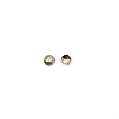 Wholesale 14K White Gold Smooth Bead Cap 2.5mm ( 10pcs)