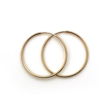 Wholesale 14K Gold Filled Endless Hoop Earrings