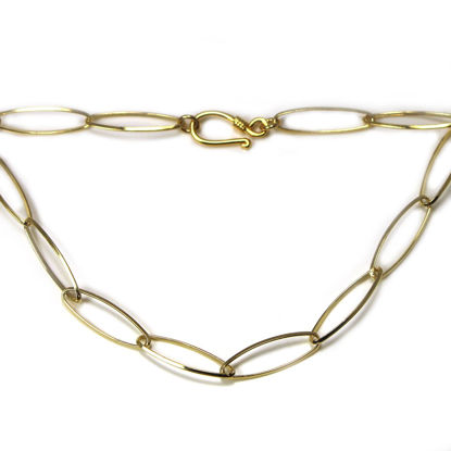 Wholesale Gold Plated Sterling Silver Finished Chain - Large Diamond Cut Oval Chain