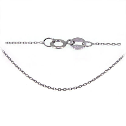 Wholesale 14K White Gold Necklace - Tiny Cable Chain - 18 inches