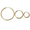 Wholesale 14K Solid Gold Textured Hoop Earrings  - Hollow Light Weight Endless Hoops  (Sold per pair)