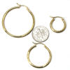 Wholesale 14K Solid Gold Textured Hoop Earrings  - Hollow Light Weight Hoops  (Sold per pair)