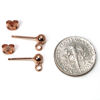 Wholesale Rose Gold Over Sterling Silver Simple Earring Studs with Ring (1 pair)