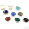 Wholesale Gold  Bezel Gemstone Connectors-Oval Shape -(ONE OF A KIND)