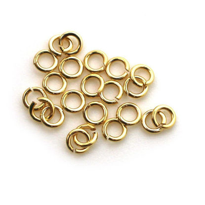 1/20 14K Gold Filled Open Jump Rings - 20Ga, 4mm Jewelry Making, Wholesale Findings