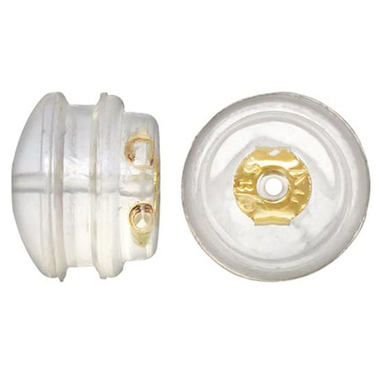 Wholesale 14K Yellow Gold Butterfly Earring Post Backs Earnuts in Silicone (1 pair)