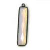 Wholesale One of a Kind- Sterling Silver Bezel Gemstone Pendant - Long Rectangle BAR Pendant 35mm - OPALITE
