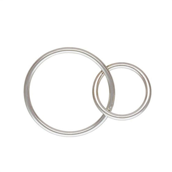 Wholesale Sterling Silver Interlocking Round Connectors - 15mm & 10mm (sold per piece)