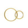 Wholesale 1/20 14k Gold Filled Interlocking Round Connectors - 15mm & 10mm (sold per piece)