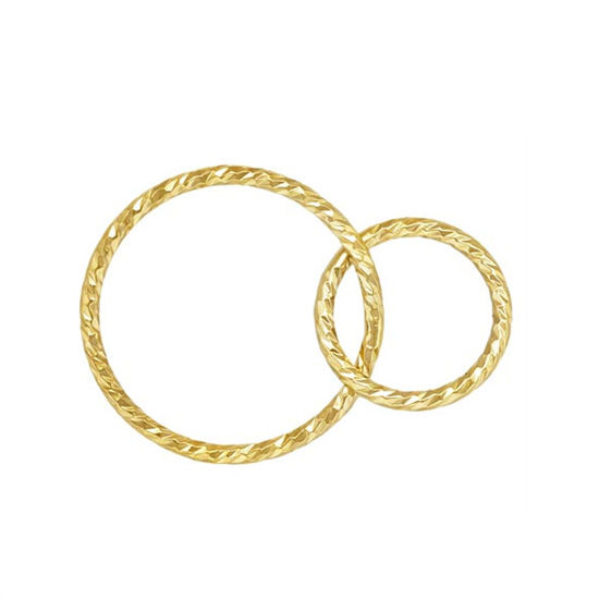 Wholesale 1/20 14k Gold Filled Sparkle Interlocking Round Connectors - 15mm & 10mm (sold per piece)