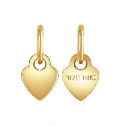 Wholesale 1/20 14K Heart Quality Tag - 3.5mm (sold per 10 pcs)