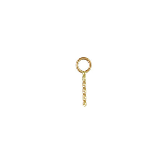 Wholesale 14K Yellow Gold Screw Eye Peg Bail - ( 1 pcs)