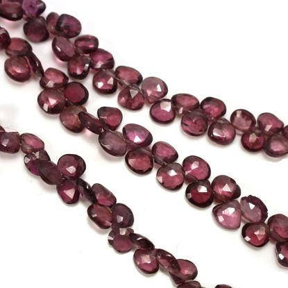 wholesale garnet gemstone strand faceted teardrop shape