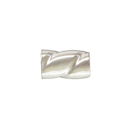 Wholesale Sterling Silver Twisted Crimp Beads - 2x3mm (sold per 50 pcs)