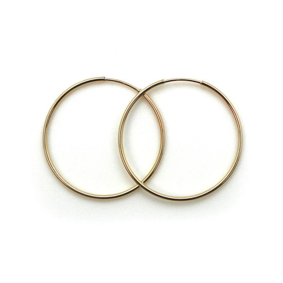 Wholesale 14K Gold Filled Endless Hoop Earrings 30mm (Sold per pair)