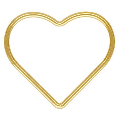 Wholesale 1/20 14k Gold Filled Plain Heart Charms - 10mm or  17mm (sold per piece)