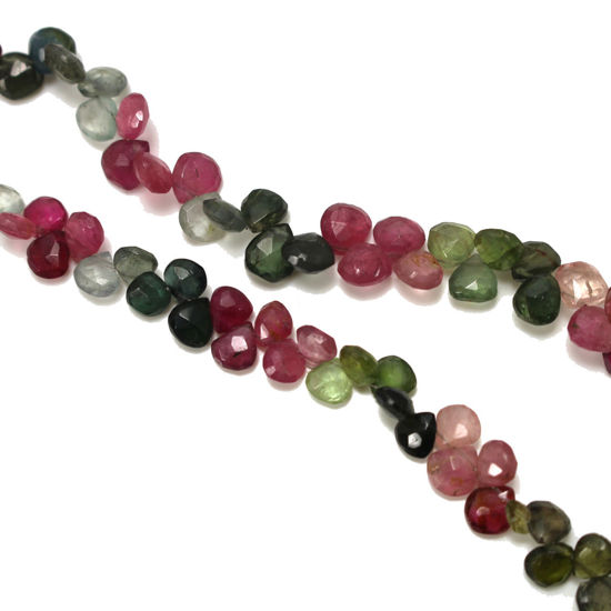 wholesale multi gemstone strand 6mm heart shape