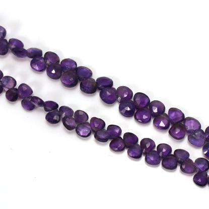 wholesale Amethyst gemstone bead strand 6mm heart shape