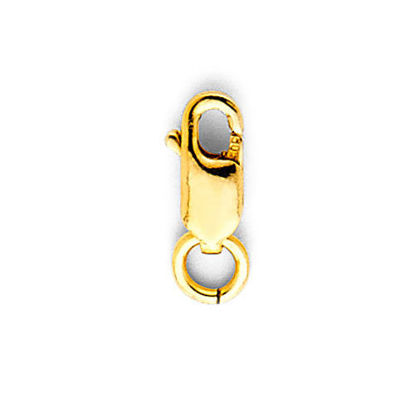 Wholesale 14K yellow gold rectangle lobster claw clasp 7mm