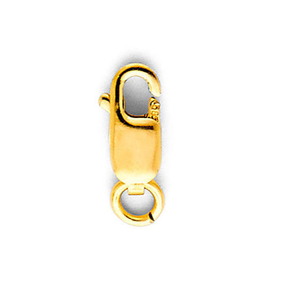 Wholesale 14K yellow gold rectangle lobster claw clasp 8.5mm
