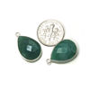 Wholesale Sterling Silver Bezel Gemstone Pendant - 13x18mm Faceted Long Teardrop Bezel - Natural Amazonite