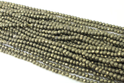 Wholesale - Pyrite - Semiprecious Gemstone Beads - Faceted Rondelle Beads - 13 inches full strand