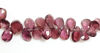 Wholesale Semiprecious Gemstone Beads - 100% Genuine Garnet Gemstone Bead - Faceted Pear Shape - (Sold Per Strand)