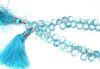 Wholesale Semiprecious Gemstone Beads -100% Genuine Blue Topaz Gemstone Bead - Faceted Pear Shape - (Sold Per Strand)
