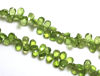 Wholesale Semiprecious Gemstone Beads - 100% Genuine Peridot Gemstone Bead - Faceted Pear Shape - (Sold Per Strand)