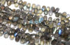 Wholesale Semiprecious Gemstone Beads -100% Genuine Labradorite  Gemstone Bead - Faceted Pear Shape - (Sold Per Strand)