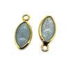 Wholesale Bezel Pendant Natural Aquamarine Marquise Shape - March Birthstone