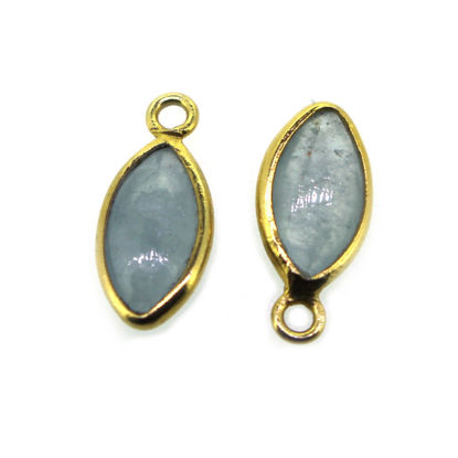 Wholesale Bezel Pendant Natural Aquamarine Marquise Shape - March Birthstone