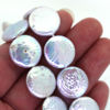 Wholesale Creamy White Freshwater Pearls, 16 mm Coin Shape - June Birthstone (Sold Per Strand)