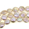 Wholesale Pink Freshwater Pearls, 10-12mm Coin Shape - June Birthstone (Sold Per Strand)
